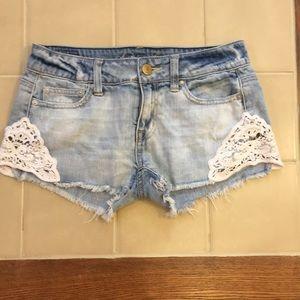 American Eagle Lace Trim Shorts